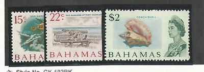 Bahamas, British, Postage Stamp, #261-262, 265 Mint NH, 1967