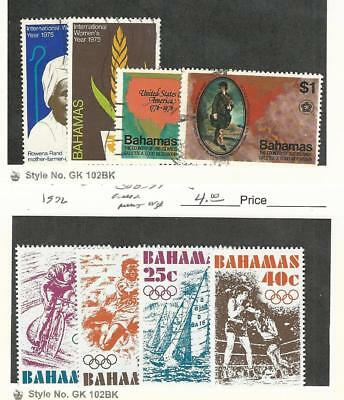 Bahamas, British, Postage Stamp, #378-9, 392-3 Used, 388-391 Mint NH, 1975-6