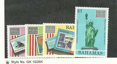 Bahamas, British, Postage Stamp, #598-601 Mint NH, 1986 Statue Liberty