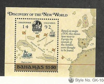 Bahamas, British, Postage Stamp, #644 Mint NH, 1988 Map
