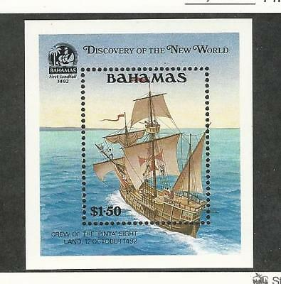 Bahamas, British, Postage Stamp, #729 Mint NH, 1991 Columbus Ship