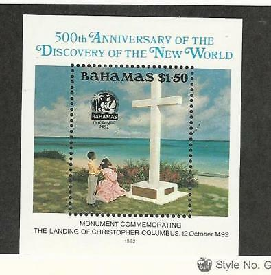 Bahamas, British, Postage Stamp, #753 Mint NH, 1992 Columbus