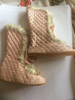 Pair Of Antique Childs Slippers