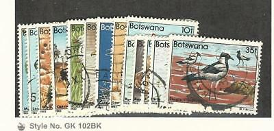 Botswana, Postage Stamp, #303//315 (14 Different) Used, 1982 Birds