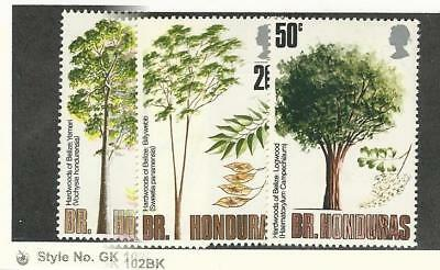 British Honduras, Postage Stamp, #284-286 Mint LH, 1971 Trees