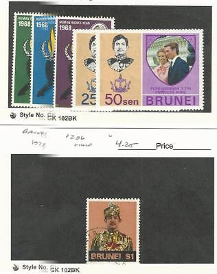 Brunei, Postage Stamp, #147-9, 190-1 Mint NH & LH, 206 Used, 1968-74