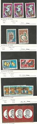 Chad, Postage Stamp, #111 (3), 123-4, 139, 142, 226 (3), 228 (4) Used, 1965-70