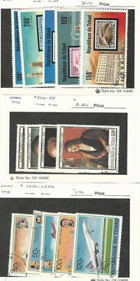 Chad, Postage Stamp, #327, C206-9, 354-7, C232-6 Used, 1977-8 Airplanes, Art
