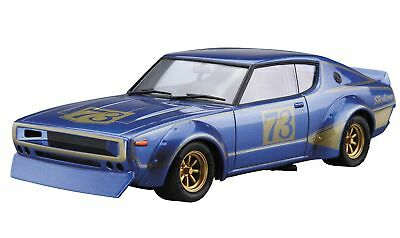 Aoshima 53492 The Model Car 48 NISSAN KPGC110 SKYLINE2000GT-R #73 1/24 scale kit
