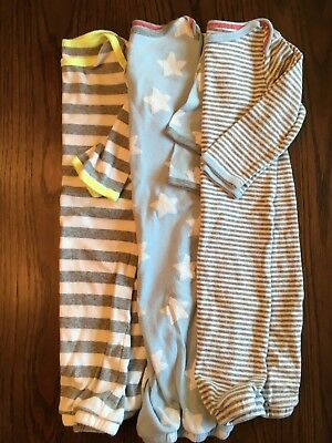 LOT OF THREE BABY BOY SLEEP GOWNS size 0-6 MONTHS CAT & JACK