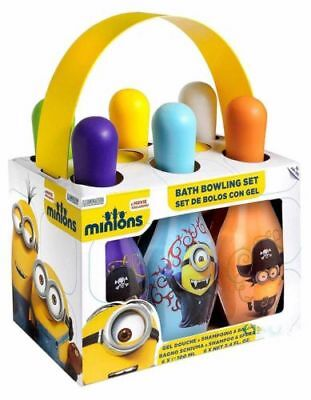 New Minions Bath Time Shower Gel Bowling Set Pack Of 6 100 Ml