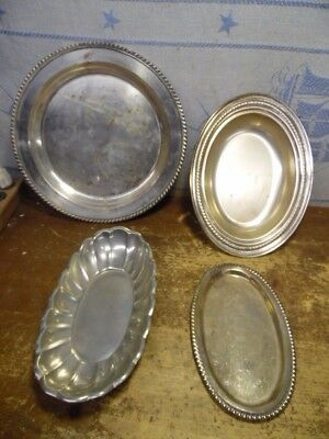 Regency  Silver Plated-Pewter- Silver on Copper Coffee Tea Serving Trays