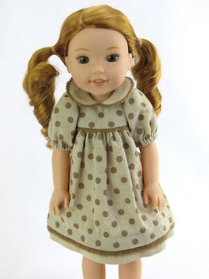 "Polka Dot Dress Fits Wellie Wishers 14.5"" American Girl Clothes"