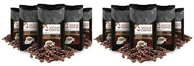 10kg Sicilia Coffee ITALIAN BLEND Coffee Beans, Freshly Roasted, Bulk Discount