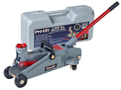 Pro-Lift F-2315PE Grey Hydraulic Trolley Jack Car Lift with Blow Molded Case (30