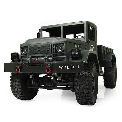 1:16 Scale 4WD Mini Off-road Wireless RC Army Military Truck with LED Lights