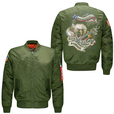 Marine Corps men's leisure jacket collar code Air Force pilots jacket