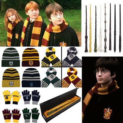 Warm Harry Potter Style Scarf Hat Gloves Unisex Designs Film Xmas Gift Cosplay