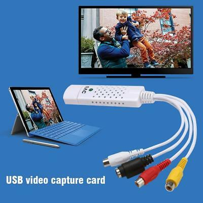 USB 2.0 Video Audio VHS RCA to DVD Converter Grabber Capture Card PC Adapter US