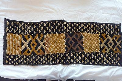African Bakuba Cloth Kuba Raffia Hand Woven Rectangle Velvet Wall Decoration #14