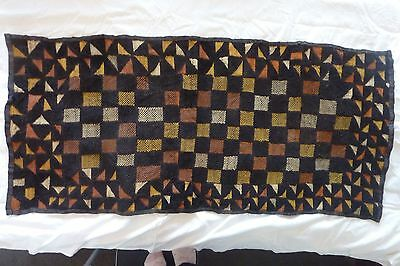 African Bakuba Cloth Kuba Raffia Hand Woven Rectangle Velvet Wall Decoration #10