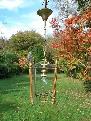 very pretty unusual vintage French brass lantern (64)