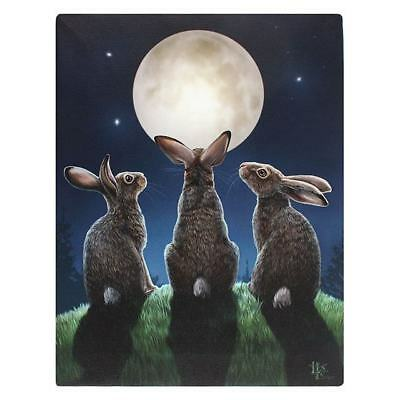 Hare Canvas 'moon Shadows' By Lisa Parker Moon Gazing Hare Mythical Wall Art