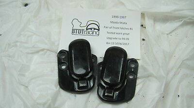1990-97 Mazda Miata Pair of front latches, Upgrade to 99-05 tested! works great!