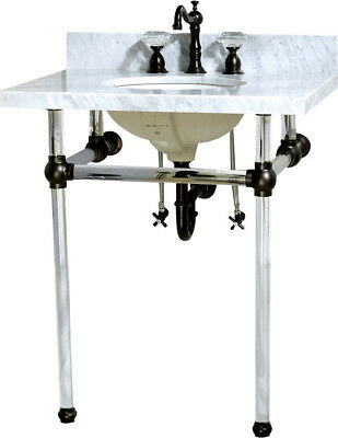 """Kingston Brass Templeton Ceramic 13"""" Console Bathroom Sink with Overflow"""