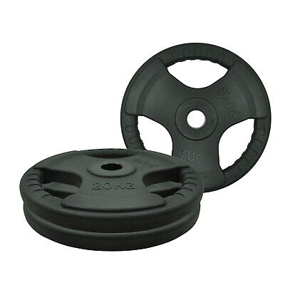 20kg x 2 Rubber Coated Olympic Weight Plate - Commercial Grade Plate- Total 40kg