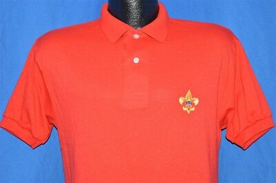 vintage 90s BOY SCOUTS OF AMERICA BSA RED CLASS B PULLOVER POLO SHIRT SMALL S
