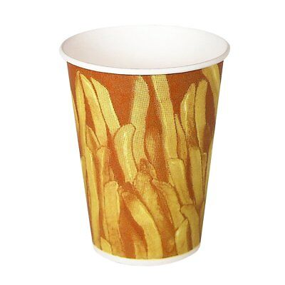 SOLO GRS9N-00021 Claycoat Paper French Fry Cup, 9 oz. Capacity, Great Fries Prin