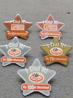 New Home Depot kids workshop i did it 10, 25, 50, 75 & 100th workshop Lapel Pin