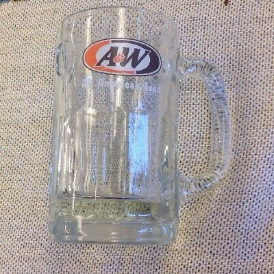 Free Shipping Vintage A&W Root Beer All American Food Heavy Glass Mug