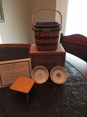 Longaberger  JW   Two Pie Basket Miniature   Certificate of Authenticity
