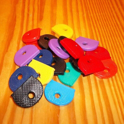 30 pcs Coloured Key Top Covers Head/Caps/Tags/ID Markers Mixed Toppers