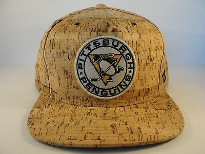 Pittsburgh Penguins NHL Zephyr Snapback Hat Cap Cork Dynasty