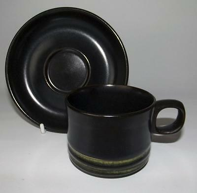 Denby Pottery Bokhara Kismet Pattern Cup and Saucer made in Stoneware