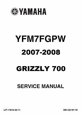 manual for yamaha grizzly 700