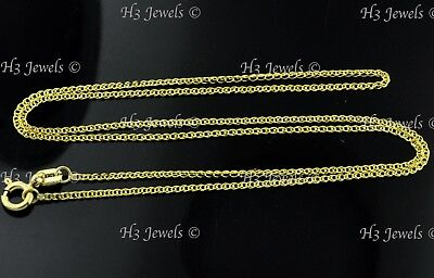 1.10 gram 14k solid Yellow gold flat wheat link chain necklace 16 inch #6125 new