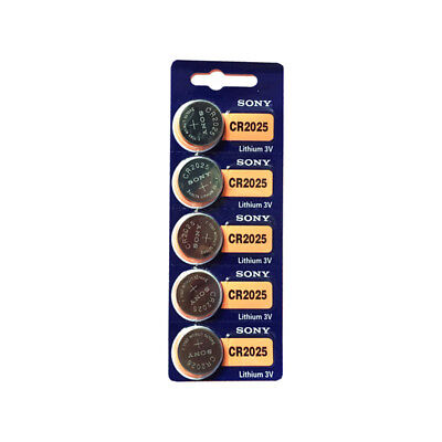 5pcs Coin Button Battery For SONY CR2025 3v Watch Set NEW