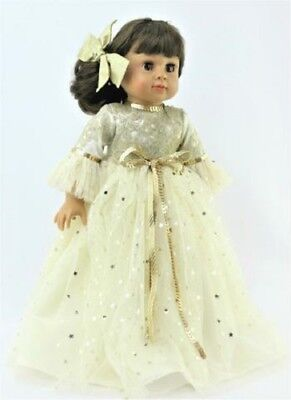 """Gold Star Ball Gown Fits 18"""" American Girl Doll Clothes"""
