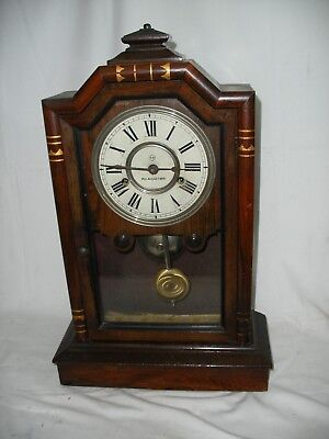 19th Century american rosewood Seth Thomas mantle clock patent 1787