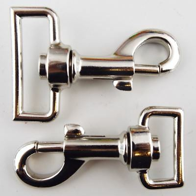 25mm 38mm All Metal Swivel Silver Dog Snap Hook Clip Webbing Clasp Bag BUY 1 2 4