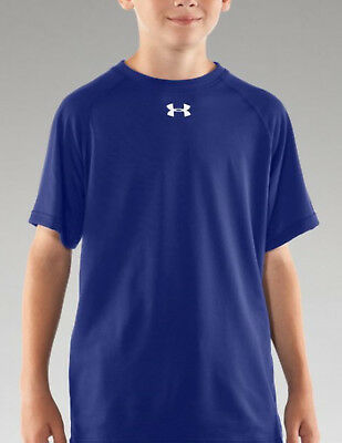 Under Armour Boys Locker Tee, Royal/White (1233665-400)