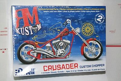 Revell RM Custom Chopper Crusader Motorcycle 1/12 Scale Plastic Model Kit Sealed