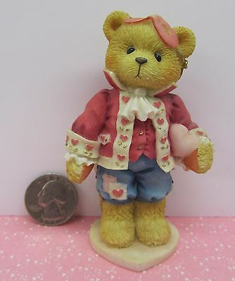 """DARREL"" Valentine BEAR FIGURINE  Cherished Teddies  ENESCO  P. Hillman  1995"