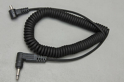 """Quantum Instruments 3.5mm to PC Male Sync Cord Coiled (36"""")"""