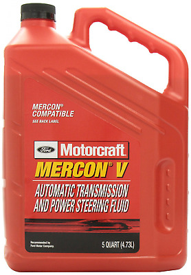 Genuine Ford XT-5-5QM MERCON-V Automatic Transmission and Power Steering Fluid -