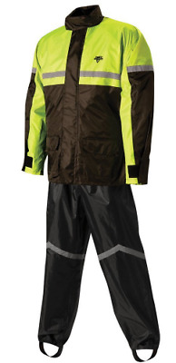 Nelson-Rigg Stormrider Rain Suit (Black/High Visibility Yellow, Large)